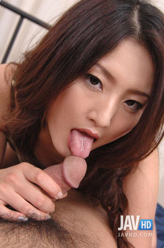 Asian girl loves sucking white dick